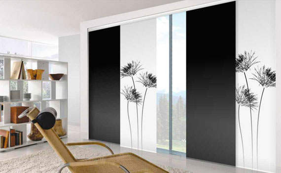 Panel Deslizante Japones Black Out